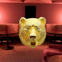 Gold Bear Pink Room